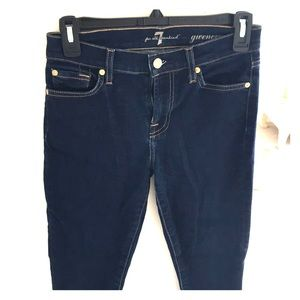 Seven for all mankind gwenevere dark jeans 24